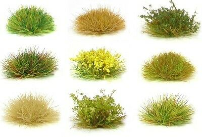 X117 Sheet Self Adhesive Static Grass Tufts - Model Scenery Soldier Diorama • 4£