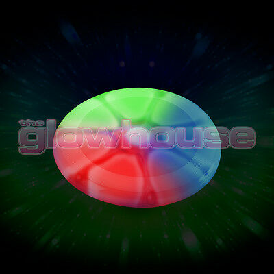 Light Up Glow Frisbee Multi Colour Glowing Flying Disc • 9.95£