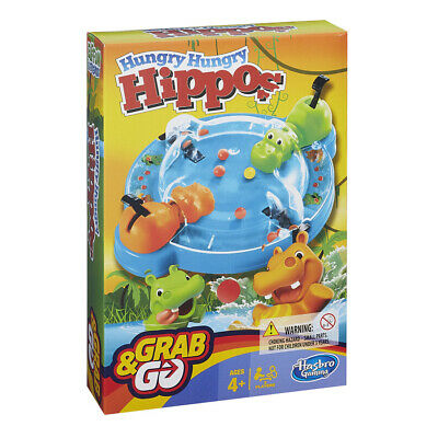 Hungry Hungry Hippos Grab And Go Travel Size Game NEW • 6.99£