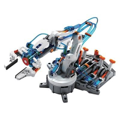 Hydraulic Robot Arm Model Kit DIY Remote Controlled Kids Educational Toy • 26.99£