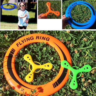 SPORT FLYERS SET Of 3 KIDS FRISBEE TRI BOOMERANG TOYS CHRISTMAS STOCKING FILLER • 3.94£