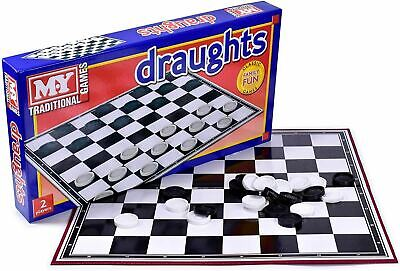 Classic Draughts Checkers Board Game Family Kids Traditional Folding Board Game • 6.19£