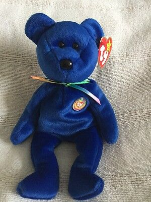 Original Ty Beanie Baby Rare Clubby The  Bear (Numbered) • 15£