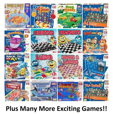 Traditional Classic Modern Full Size Family Childrens Kids Board Games Boardgame • 6.99£