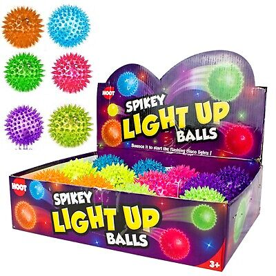 High Quality Flashing Spikey Bouncy Ball Color Changing LightUp Sensory Kids Toy • 4.29£