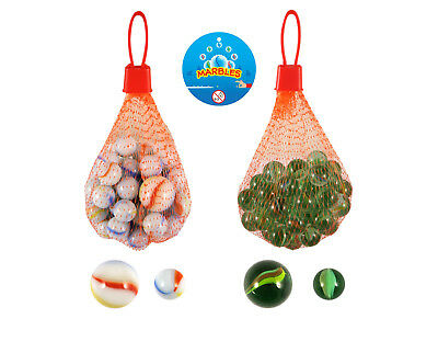20 50 Glass Marbles Cats Eye Clear Milky White Toy Game Net Large Shooter 20mm • 0.99£