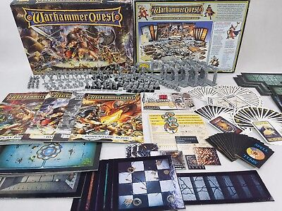 Warhammer Quest Board Game Unpainted 100% Complete In Prime Condition [ENG,1995] • 599.95£