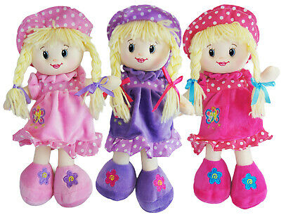My 1st Rag Doll Traditional Baby Girls Soft Toy Dolly Xmas Christening Gift 32cm • 6.99£