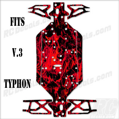 Arrma Typhon 6S V.3 (2018) - Chassis Protector Red Flames • 21.67£