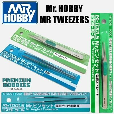 Mr Hobby Tweezers (Basic, Precision, Angled, Bevel And Part Holders) • 11£