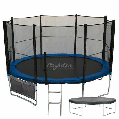 8FT Trampoline With FREE Safety Net Enclosure, Ladder, Rain Cover, + Shoe Bag  • 199.99£