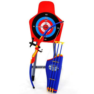 Bow & Arrow Archery Set Target Stand Kids Toy Outdoor Garden Fun Game Xmas Gift  • 19.89£