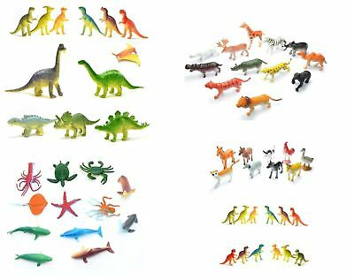 Children Kids Toys Farm Jungle Sea Dinosaurs Animals Figurines Party Bag Fillers • 3.29£