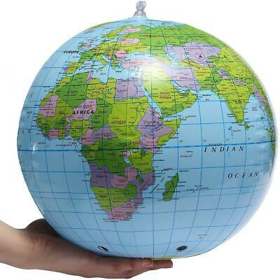 40cm Inflatable Globe Map Ball World Earth Geography Blow Up Atlas Education Toy • 2.49£