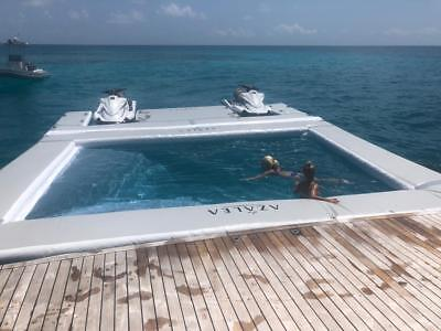 Inflatable Yacht Open Water Sea Ocean Pool With Jelly Fish Protection Mesh Slide • 2,799£