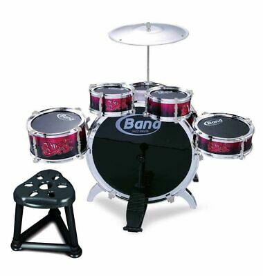 Childs Kids Drum Kit Jazz Band Sound Drums Play Set Musical Toy With Stool • 16.99£