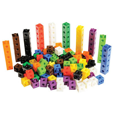 100 X 2cm Snap Cubes - Counting Linking Building Maths Home Early Learning  • 10.45£