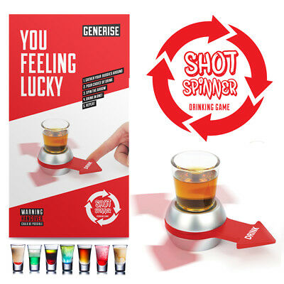 Drink Adult Drinking Fun Party Game Spin Shot Glasses Hen Stag Night Party Fun  • 4.99£