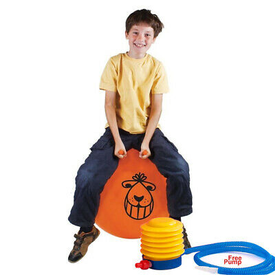 Large Exercise Retro 60cm Jump Space Hopper Toy Kids Party Game Free Pump • 8.79£