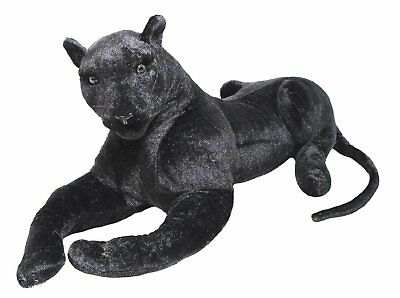 Large Giant Wild Black Panther Soft Plush Stuffed Animal Cuddly Toy Teddy • 31.49£