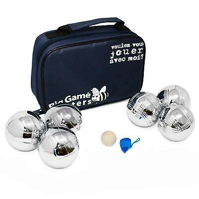 6 Boules Set In Luxury Canvas Bag Petanque Garden Game Metal Bowls Rust-Free • 24.99£