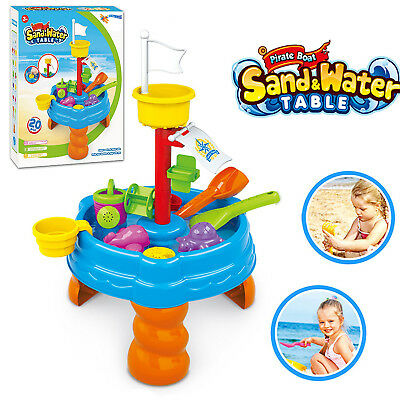 20 Pcs Sand And Water Table Garden Sandpit Toy Watering Can Figures Play Set  • 16.99£