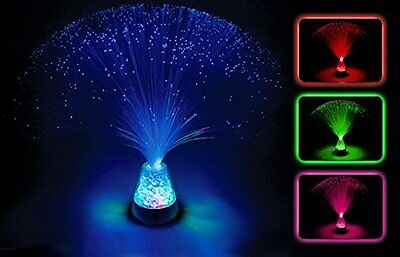 Sensory Colour Changing Fibre Optic Lamp Crystal Light Up Mood Lamp • 8.49£