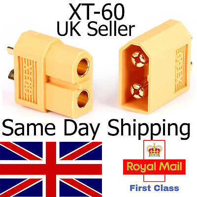 XT60 Connectors Male Female Pair Buy Options Lipo Charger Battery Plug Xt60 RC • 1.98£