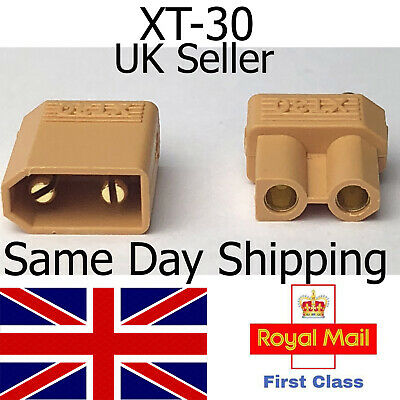 XT30 Connectors Male Female Pairs Plug Cable Lead Lipo Charger Battery ESC RC UK • 2.40£