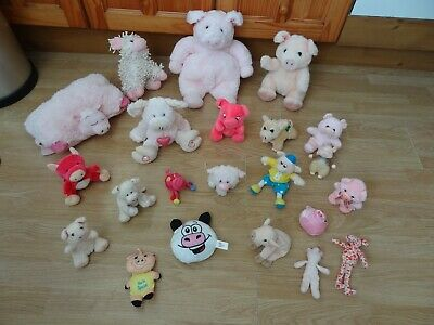 Bundle 24 X Large & Small Plush Soft PIGS 11.5 Ins High Max - Inc YOU'RE SPECIAL • 5.99£