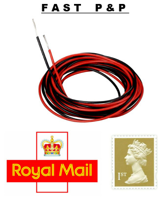 SUPER SOFT SILICONE WIRE FOR RADIO CONTROL / CARS / RC 14awg BLACK & RED • 4.85£