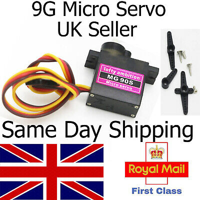 Metal Gear High Speed 9g Micro Servo Digital MG90S Car RC Helicopter Plane UK Rc • 4.85£