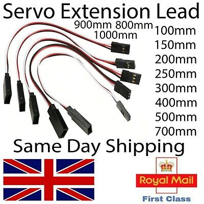 Servo Extension Lead For RC Models Futaba JR Hitech All Servo Brands Wire Cable • 2.25£