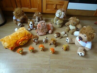 Bundle 17 X  Large & Small Plush Soft LIONS 13 Ins High Max • 5.99£