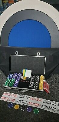 Folding Poker Table And Poker Chips Sets • 100£