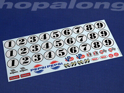 Scalextric/Slot Car Waterslide Decals (with White Print). Ws016w • 3.55£