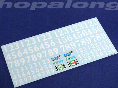 Scalextric/Slot Car Waterslide Decals (with White Print). Ws013w • 3.55£