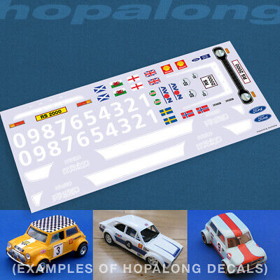 Scalextric/Slot Car 1/32 'Escort RS2000' Waterslide Decals (with White Print) • 3.55£