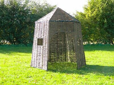 Natural Wicker Play Hut (1.4 X Ht 1.6m) - Flatpack - OUTDOOR - Child - Garden • 189.99£