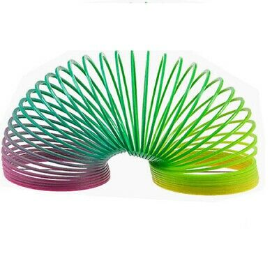 Large Rainbow Spring Coil Slinky Fun Kids Toy Magic Stretchy Bouncing • 2.97£