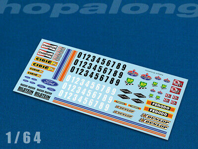 Scalextric/Slot Car/Diecast 1/64 Waterslide Decals W/white. Sf006w • 2.85£