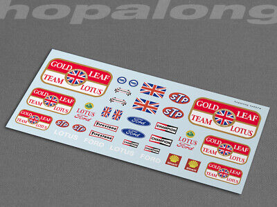 Scalextric/Slot Car 1/32 'Gold Leaf Lotus' Waterslide Decals (w/white) Ns027w • 2.85£