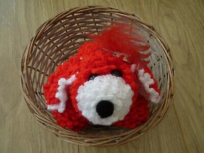 Ruby The Red And White Crochet Puppy  • 12£