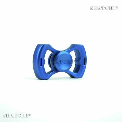 Blue Metal Fidget Hand Spinner Kids Toys Outdoor Indoor Games Gifts • 5.99£