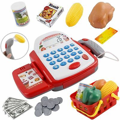 Kids Electronic Cash Register Toy Working Scan Till Play Food Shopping Basket  • 10.49£