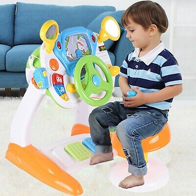 Kids Electronic Steering Wheel Simulation Car Driving Activity Toy Role Play Toy • 38.99£