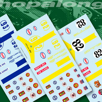 Scalextric/Slot Car 'Lotus Ford' Waterslide Decals • 2.85£