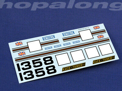 Scalextric/SlotCar 1/32 Scale Waterslide Decals (with White Print) Ns011w • 2.85£