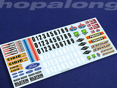 Scalextric/Slot Car 1/32 Scale Waterslide Decals. Ws006w • 3.55£