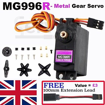 MG996R Servo Metal Gear Torque Digital Truck Car Helicopter Plane Boat RC UK ESC • 6.25£